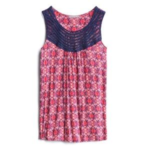 Loveappella Maternity Mackinley Crochet Top S